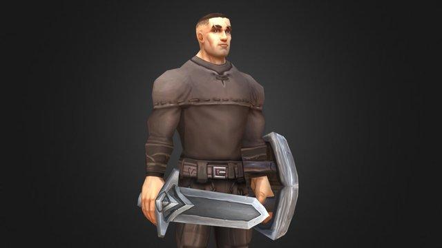 Simple RPG Human Male 3D Model