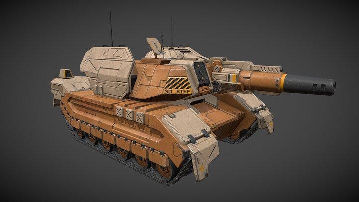 "Sci-fi ""Patton"" Tank 3D Model"