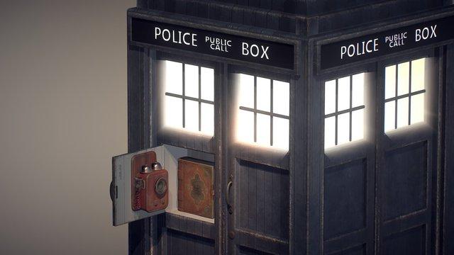 Tardis 10th Doctor Fan Art - open 3D Model