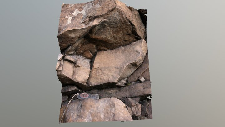 Sandstone with cross lamination 3D Model