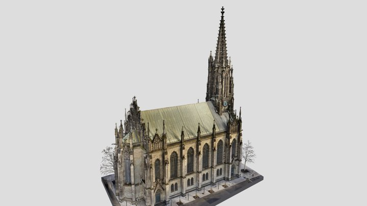 Basel BS, Elisabethenkirche 3D Model