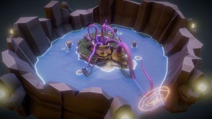 Fantasy Island atoll of the Beast 3D Model