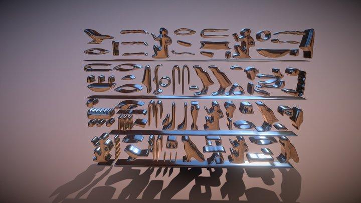 Egypt symbols 3D Model