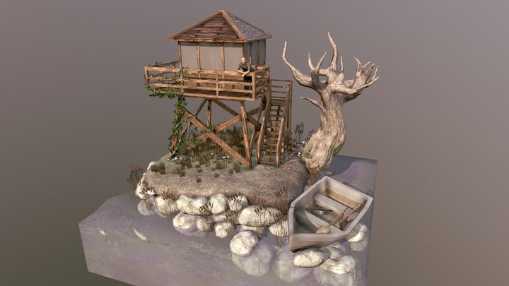 Watch Tower Diorama 3D Model