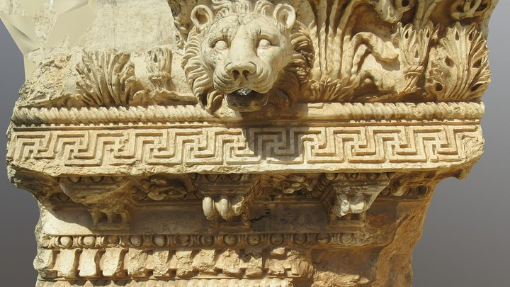 Frieze decoration. Temple of Juppiter, Baalbek 3D Model
