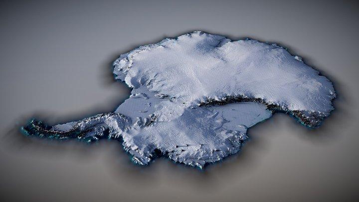 Antarctica 3D Map 3D Model