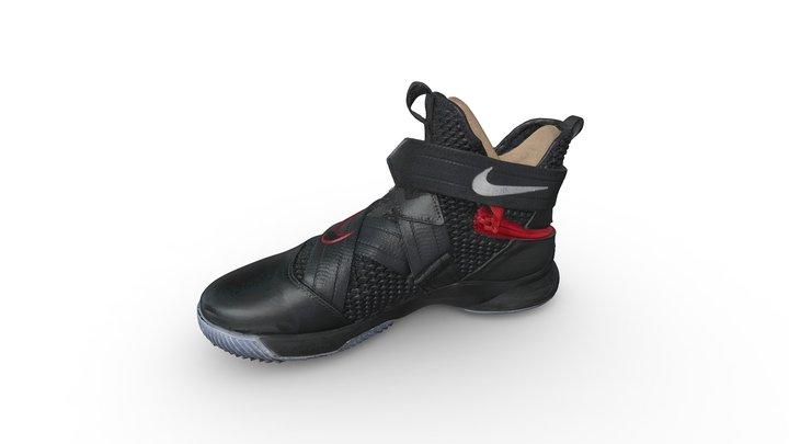 Nike LeBron Soldier XII FlyEase Black 3D Model