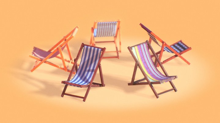BEACH CHAIRS 3D Model