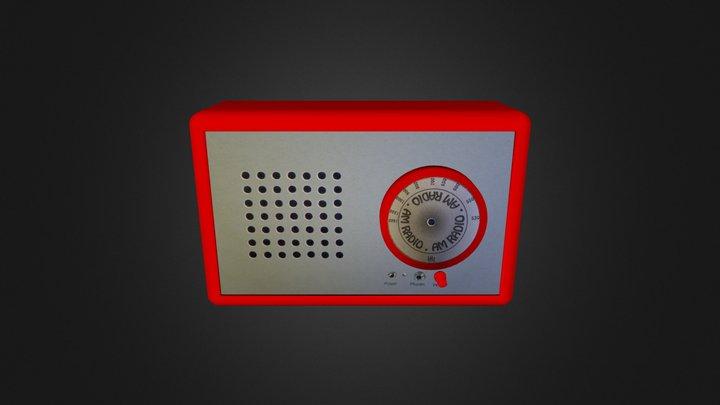 AM Radio 3D Model