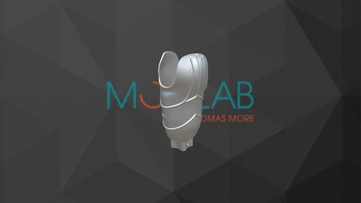 3D printed transtibial socket design 3D Model