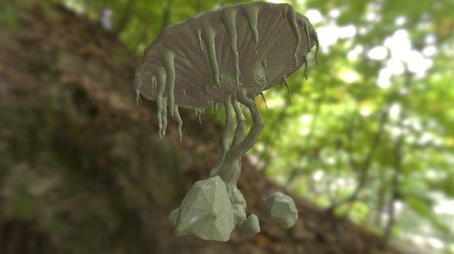 "Sculpt January Day 1 ''Mushroom"" 3D Model"