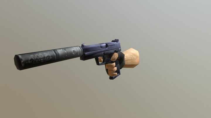 Counter-Strike USP 3D Model