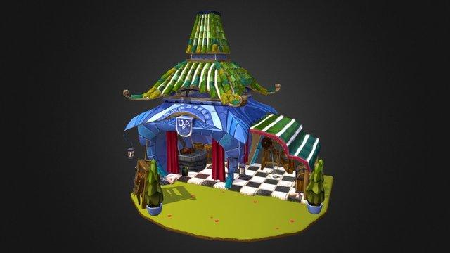 Stylised Blacksmith Shop 3D Model