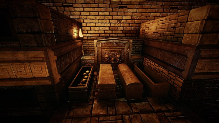 Modular Dungeon Pack - Catacomb_Level1 3D Model