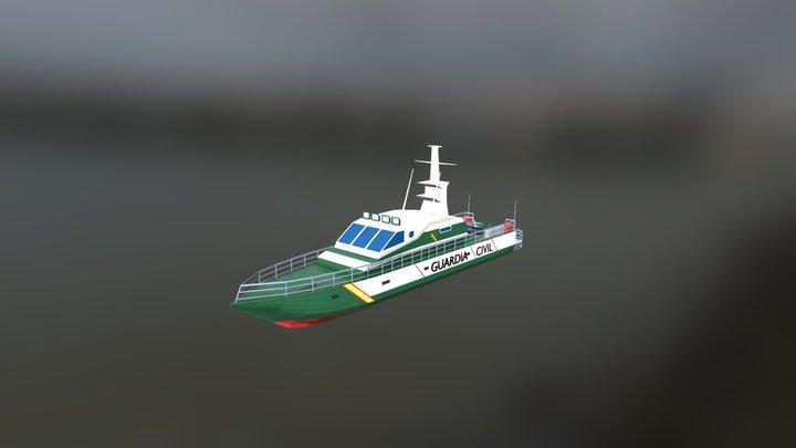 Patrullera Guardia Civil - Servicio Maritimo 3D Model