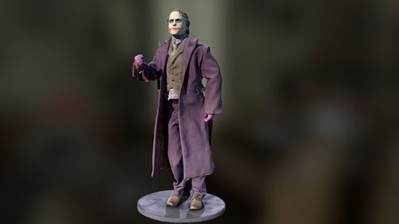 Joker Figurine 3D Model