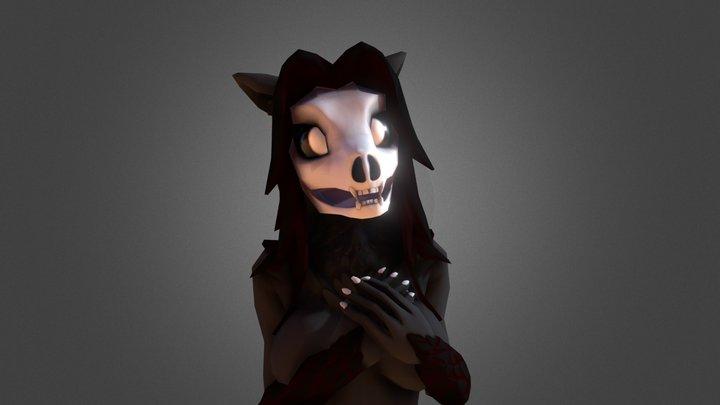 Skull Furry Model 3D Model