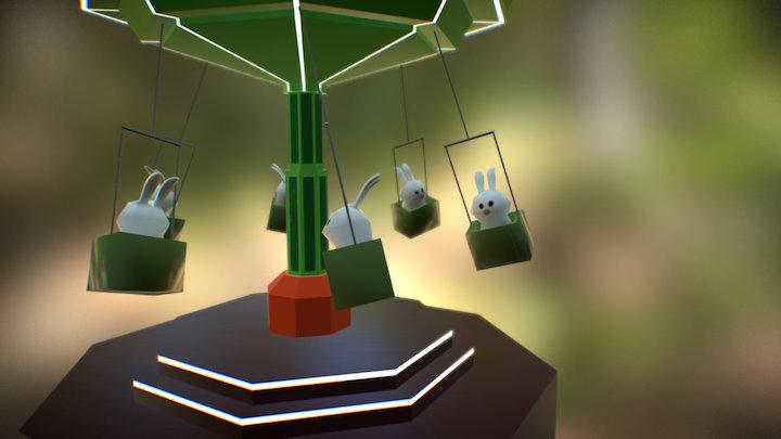 test animation carousel swing ride 3D Model