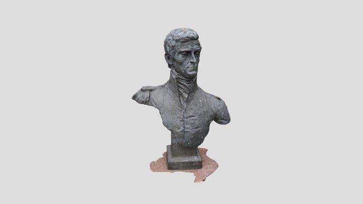 Captain Matthew Flinders Bronze Bust 3D Model