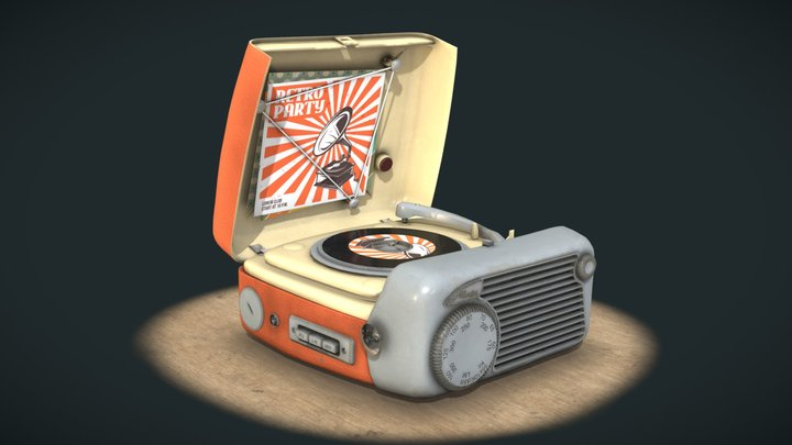 Metz 'Babyphon 102' - Portable Record Player 3D Model