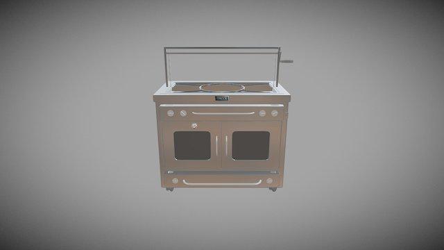 44 Burner Drawer - HBP16— Paella 3D Model