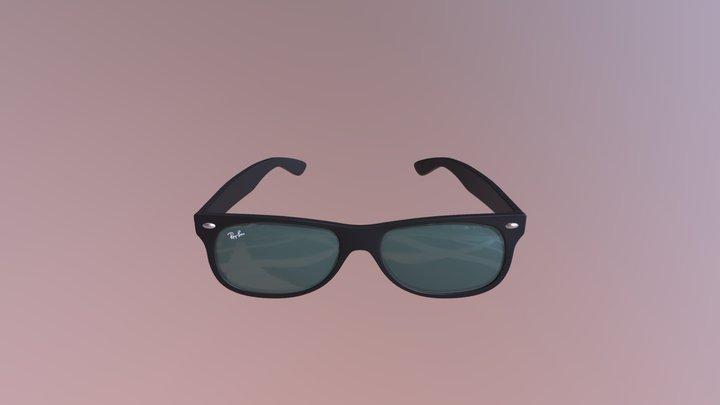 RayBan Black Sunglasses 3D Model