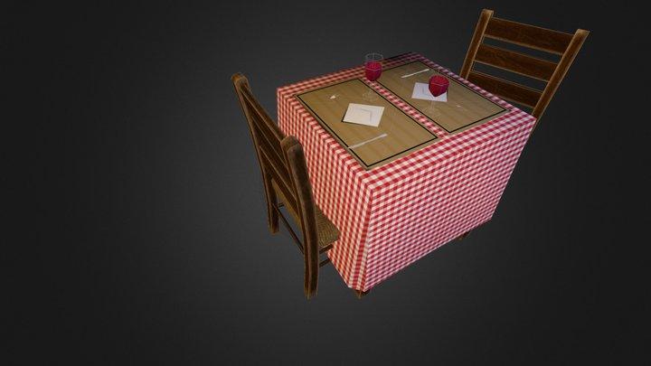 Prop_DiningTable 3D Model