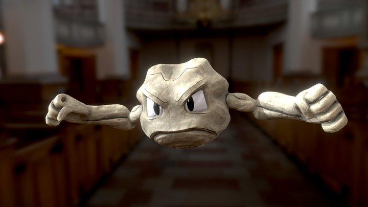 Geodude Pokemon 3D Model