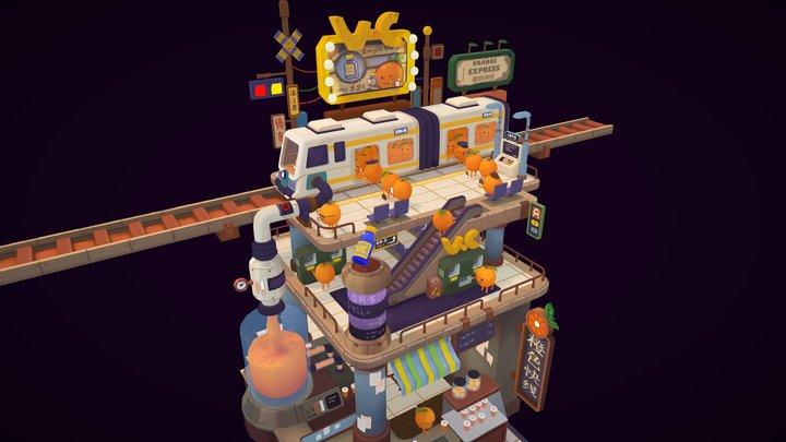 Orange Express 3D Model