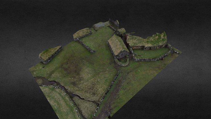 Heimi í Húsi, Koltur, Faroe Islands 3D Model