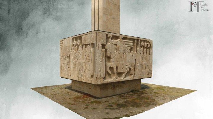 Monumentul lui Mihai Viteazu de la Guruslău 3D Model