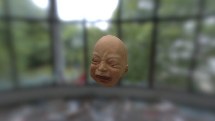 Crybaby Mask 3D Model