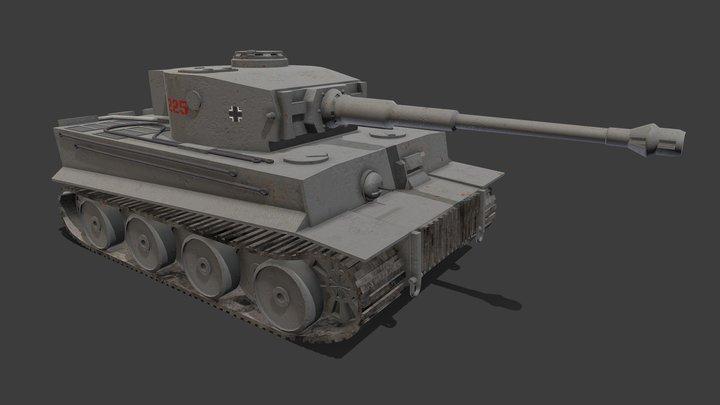 Tiger 1 Ausf. E 3D Model