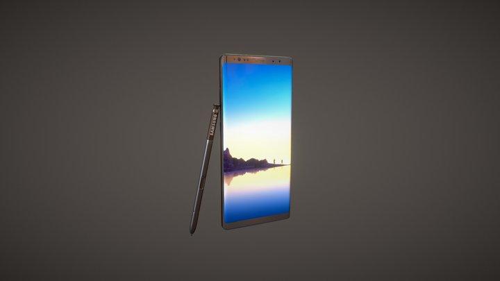 Samsung Galaxy Note 8 3D Model