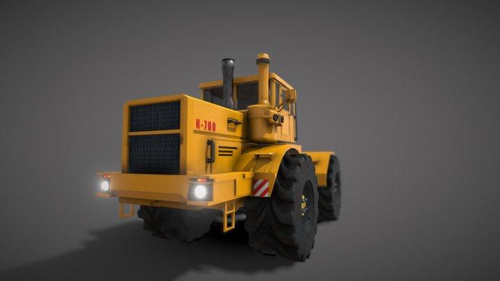 Кировец К-700 3D Model