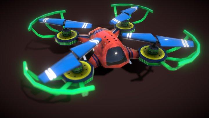 Flycam Cartoon 1 3D Model
