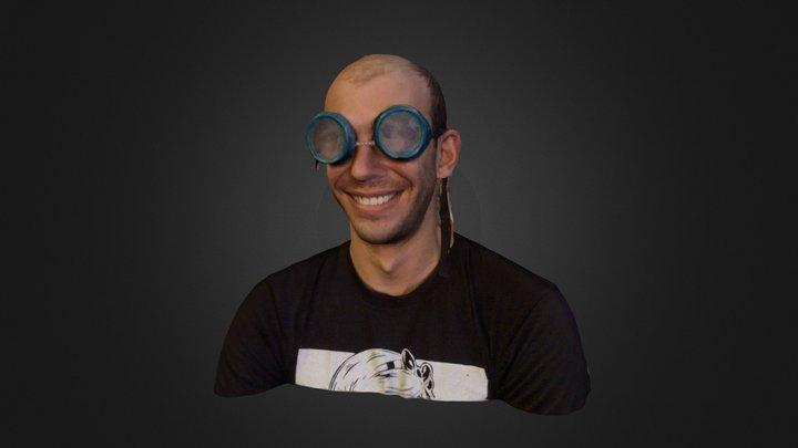 Alex with Goggles June 2014 3D Model
