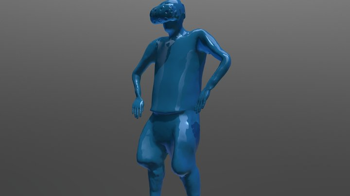 3D Scanned - Self Portrait Animated with Mixamo 3D Model