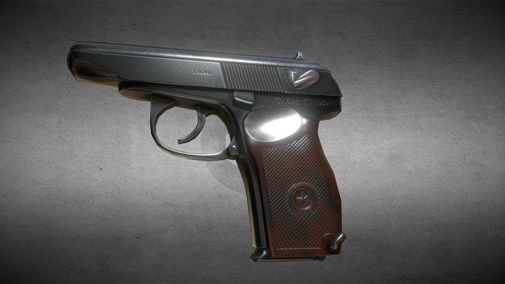 3D Makarov pistol (Макарова) 3D Model