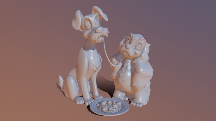Lady And Tramp 3D Model
