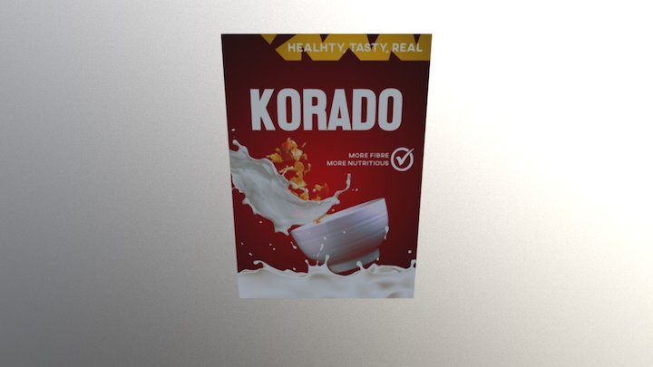 KORADO CEREAL BOX 3D Model