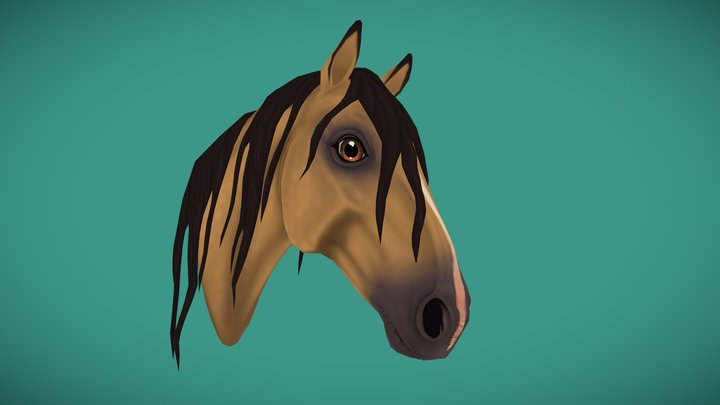 Andalusian Horse 3D Model