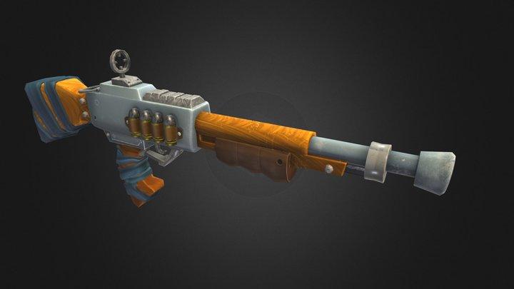 Shotgun stylized 3D Model