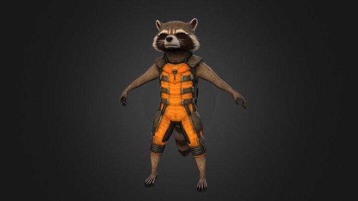 Rocket Raccoon Ut 2004 Skin 3D Model