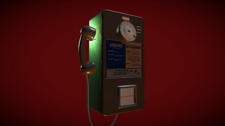Italian '60ies  public payphone 3D Model