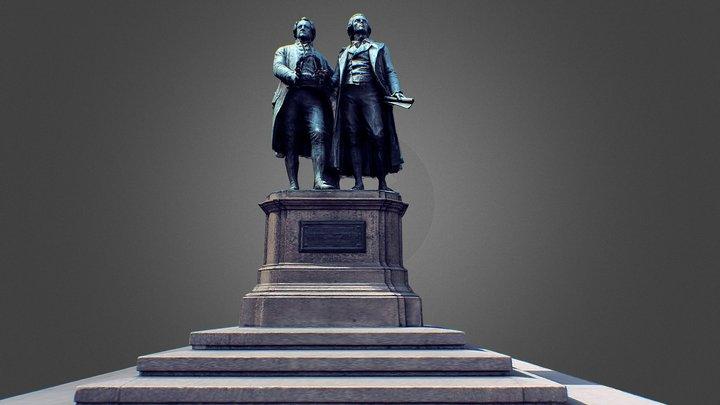 Goethe - Schiller Monument 3D Model