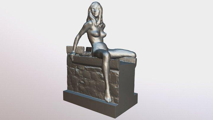 Femme au chéneau 3D Model
