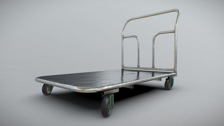 Simple Platform Trolley 3D Model