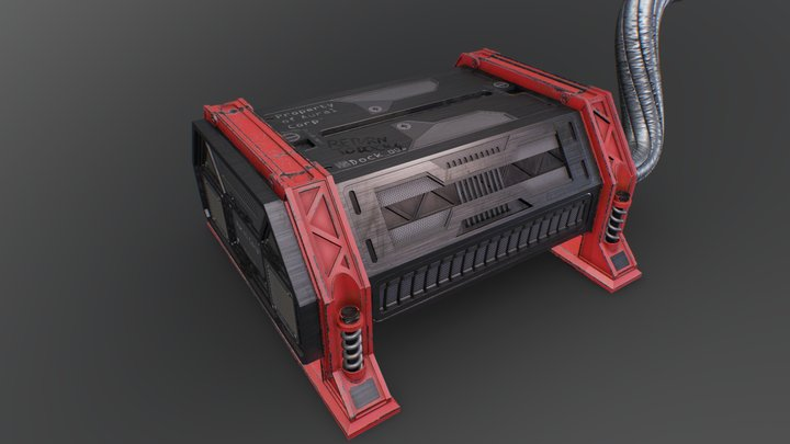 Docking container 3D Model