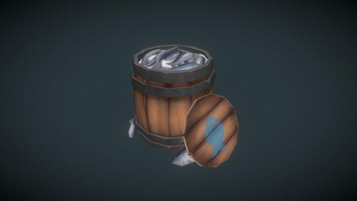 Barrel of Fish 3D Model